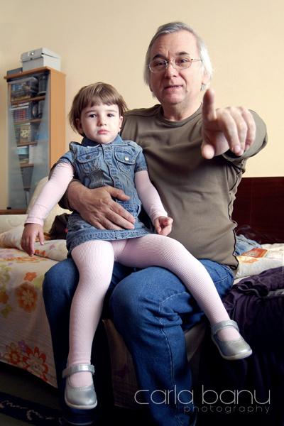 Nati cu bunicul Ilie