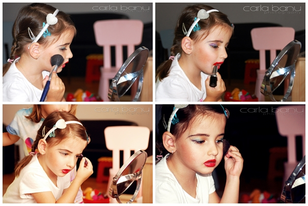 Girlie make-up