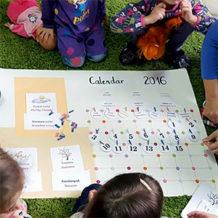 Învățăm despre timp (I): Calendarul copiilor (DIY)