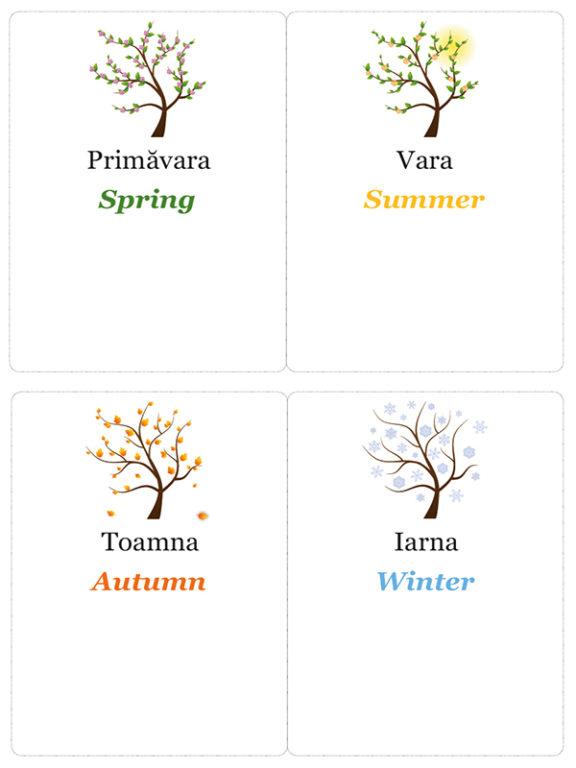 Calendarul copiilor - Anotimpurile