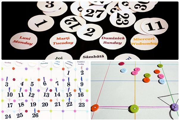 Calendarul copiilor -Zilele lunii